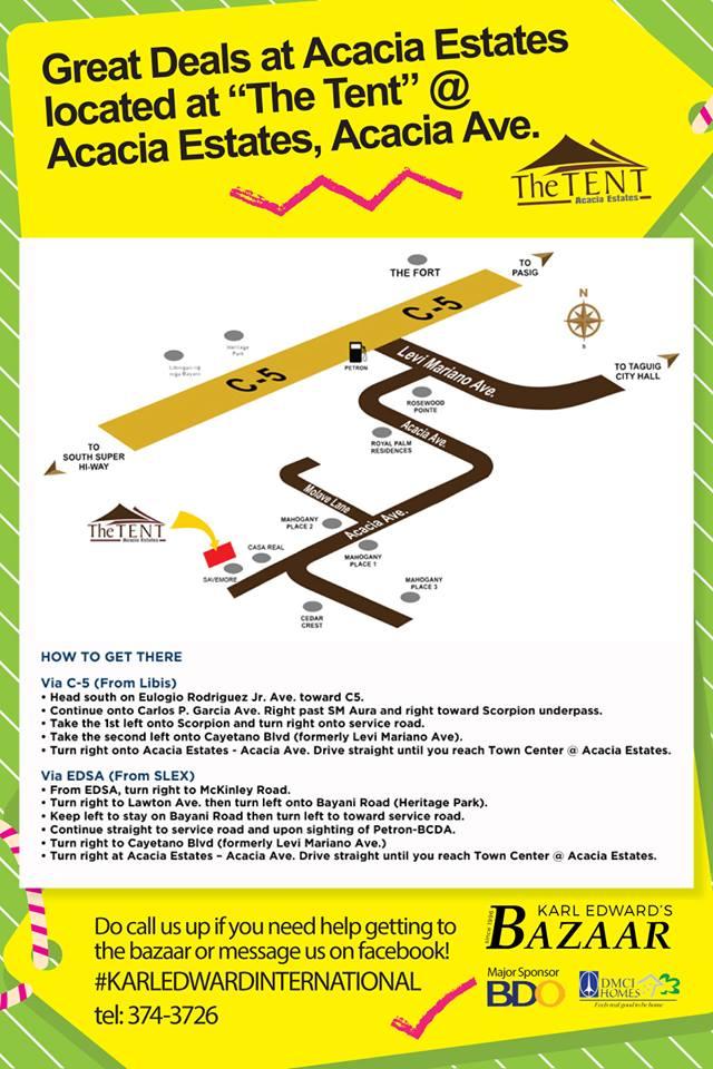 The Tent, Acacia Estates Location Map