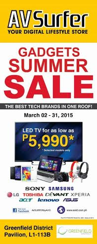 AV Surfer Gadgets Summer Sale @ Greenfield District March 2015