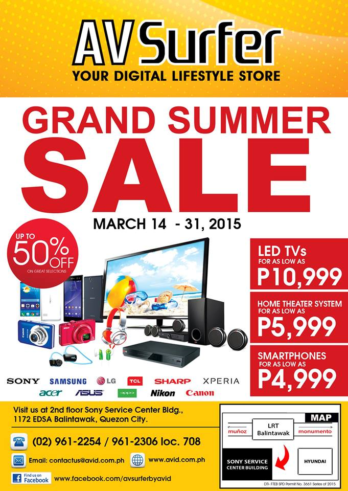 AV Surfer Grand Summer Sale @ Sony Service Center Building March 2015