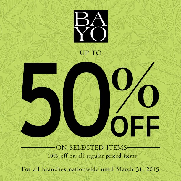 Bayo Sale March 2015