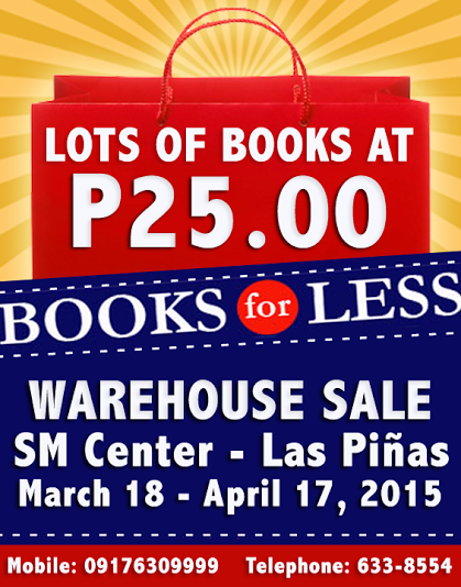 Books For Less Warehouse Sale @ SM Center Las Pinas March 2015