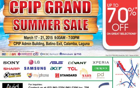 CPIP Grand Summer Sale @ CPIP Admin Building March 2015