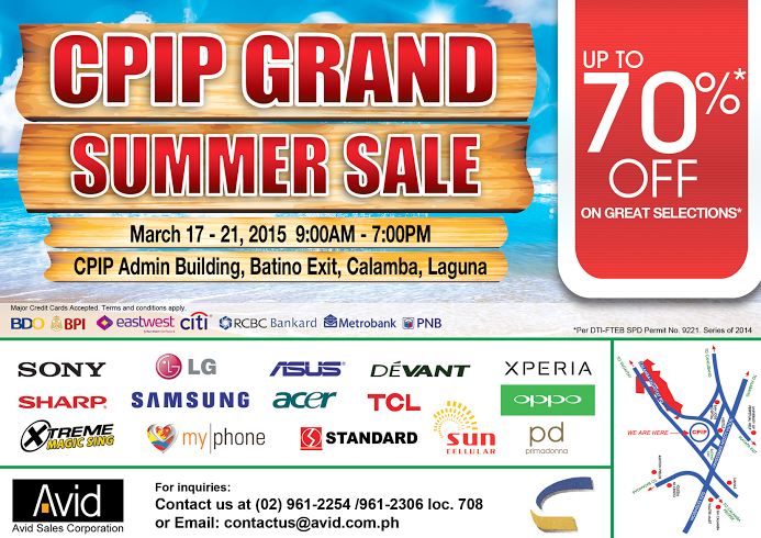 CPIP Grand Summer Sale @ CPIP Admin Building March 2015
