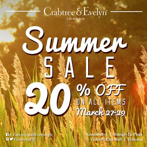 Crabtree & Evelyn Summer Sale March 2015