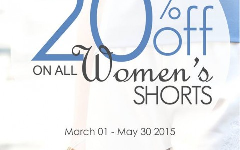 G2000 Women's Shorts Sale March - May 2015