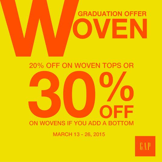 Gap Graduation Offer March 2015