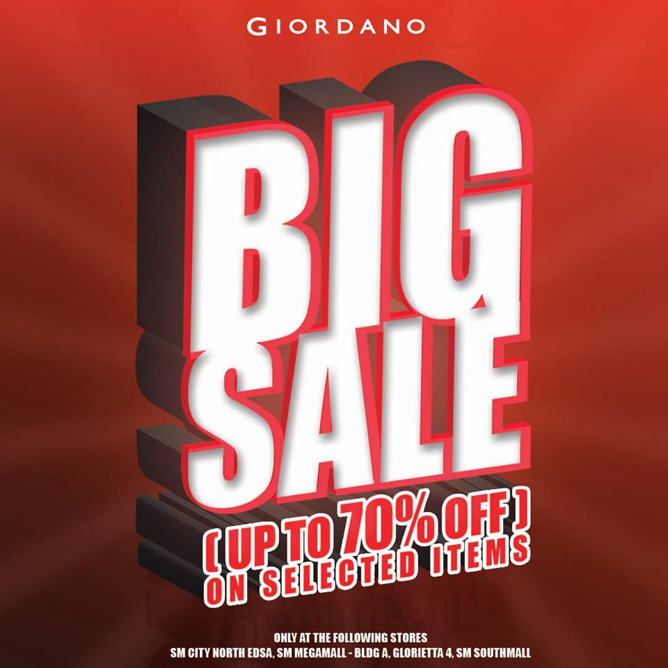 Giordano Big Sale March 2015