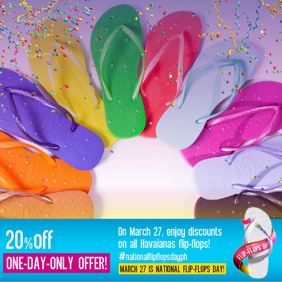 62ad104f8 Havaianas National Flip-Flops Day Sale March 2015
