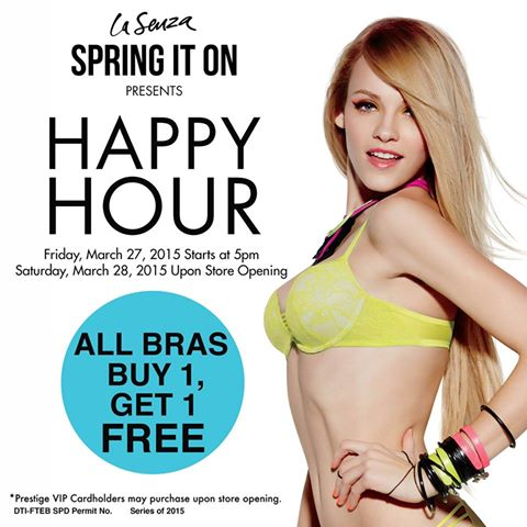 La Senza Happy Hour Sale March 2015