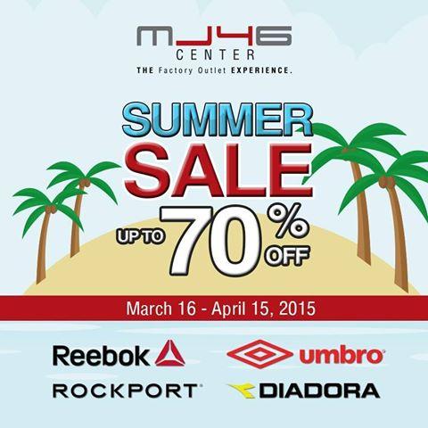MJ46 Center Summer Sale March - April 2015