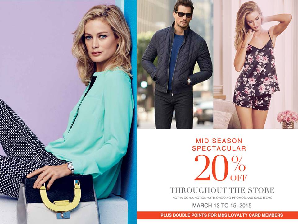 Marks & Spencer Mid-Season Spectacular Sale March 2015