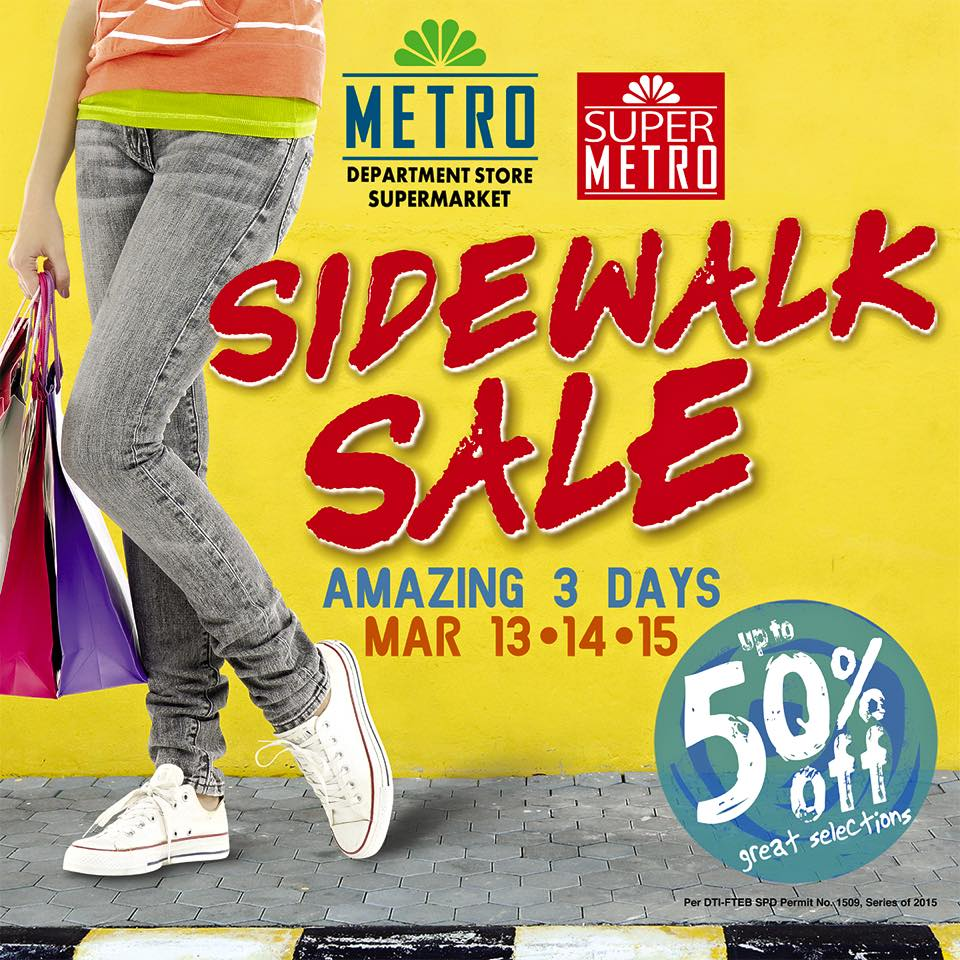 Metro Department Store and Super Metro Sidewalk Sale March 2015