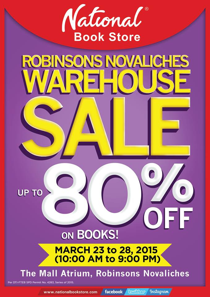 National Book Store Warehouse Sale @ Robinsons Novaliches March 2015