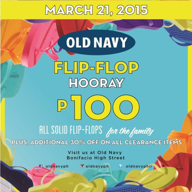 Old Navy Flip-Flop Hooray Promo @ Bonifacio High Street March 2015