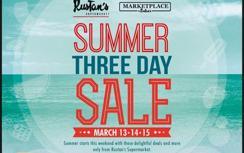 Rustan's Supermarket and Marketplace 3-Day Summer Sale March 2015