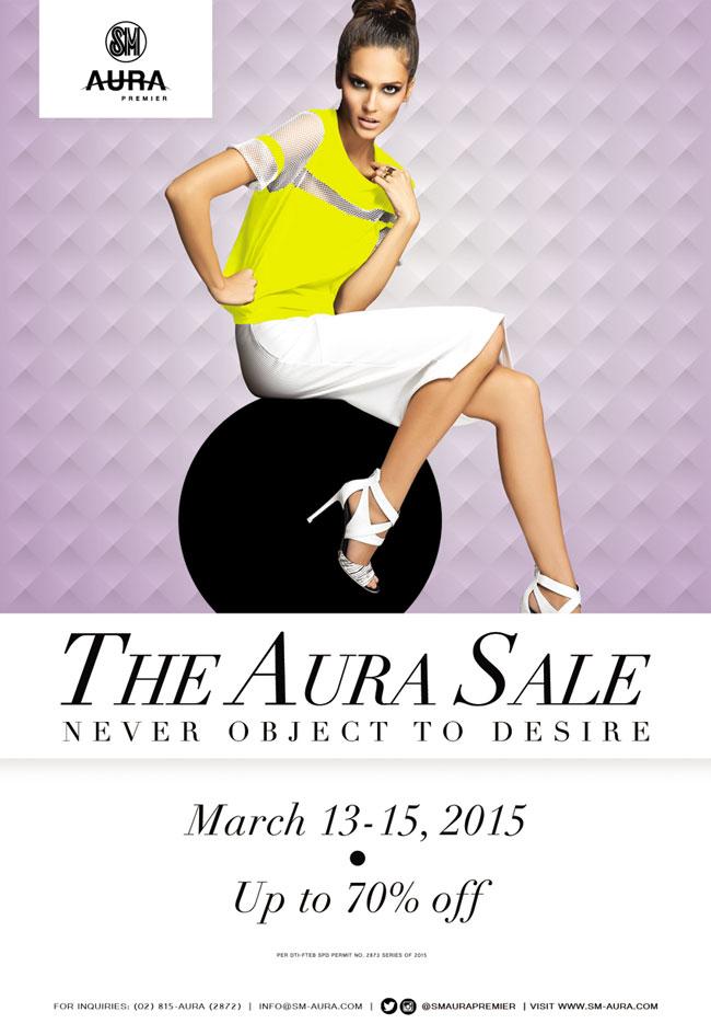 SM Aura Premier 3-Day Sale March 2015