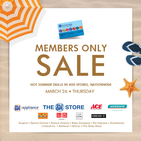 SMAC Members Only Sale March 2015