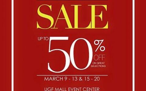 Shoes & Bags Sale @ SM City San Lazaro March 2015