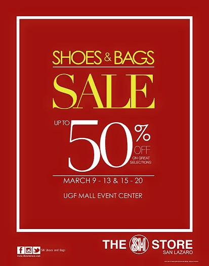 Shoes & Bags Sale @ SM City San Lazaro March 2015