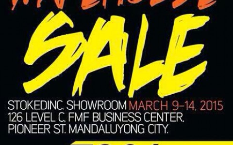 StokedInc. Annual Warehouse Sale March 2015