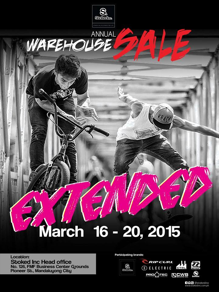 StokedInc. Annual Warehouse Sale March 2015 - extended