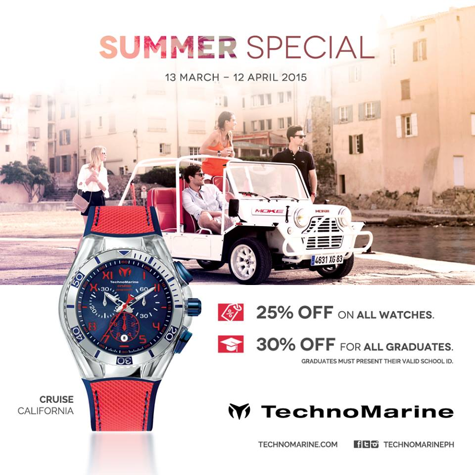 Technomarine Summer Special Sale March - April 2015