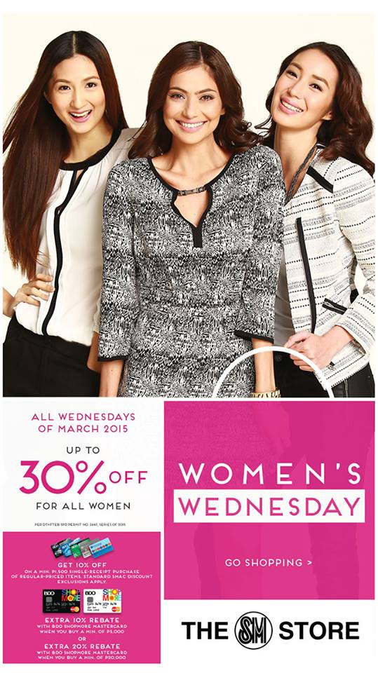 The SM Store Women's Wednesday Sale March 2015
