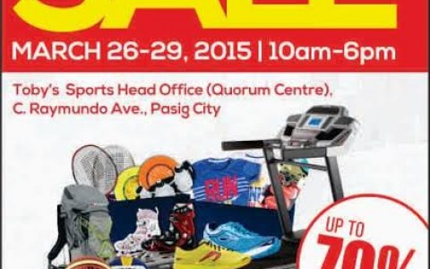 Toby's Sports Garage Sale @ Quorum Center March 2015