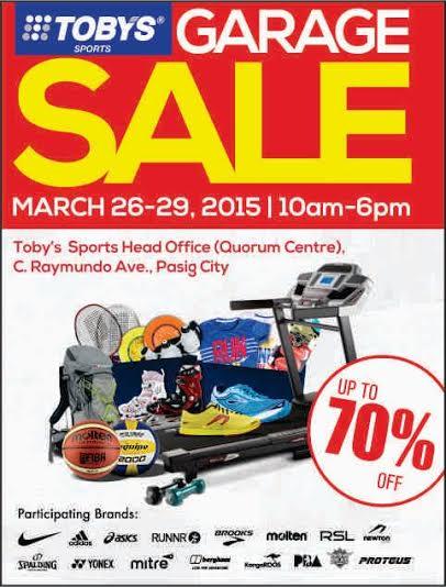 Toby's Sports Garage Sale @ Quorum Center March 2015