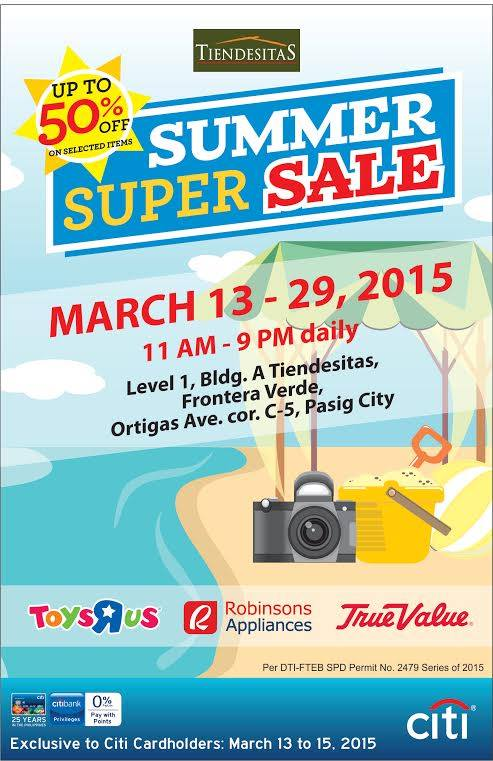 Toys R Us, Robinsons Appliances, True Value Summer Super Sale @ Tiendesitas March 2015