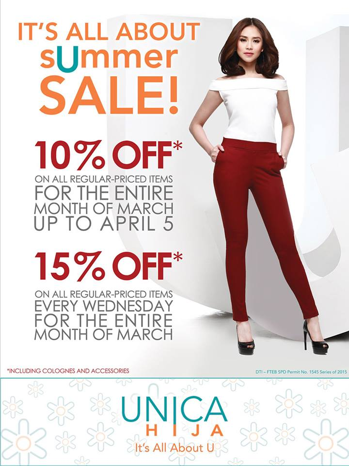 Unica Hija Summer Sale March - April 2015
