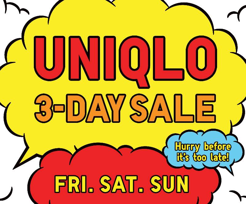Uniqlo's (SM Aura Premier, SM Southmall, & SM City Dasmarinas) 3-Day Sale March 2015