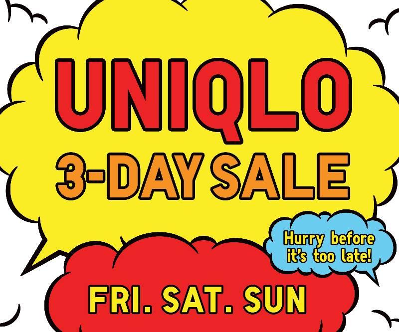 Uniqlo's (SM Aura Premier, SM Southmall, & SM City Dasmarinas) 3-Day Sale March 2015