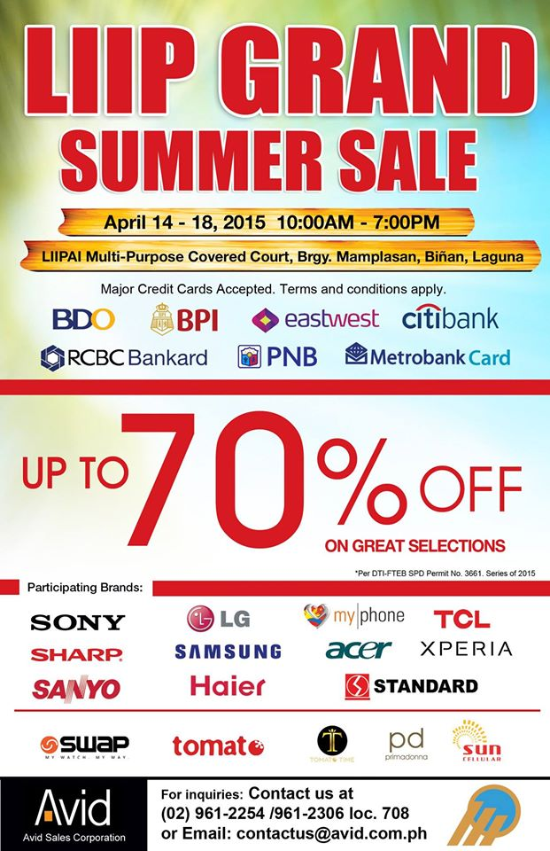 AV Surfer Grand Summer Sale @ LIIP April 2015