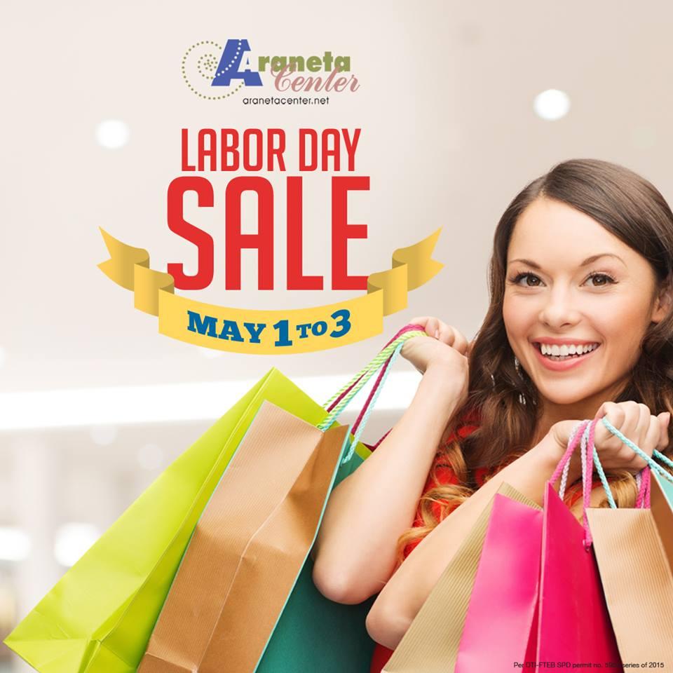 Araneta Center Labor Day Sale May 2015