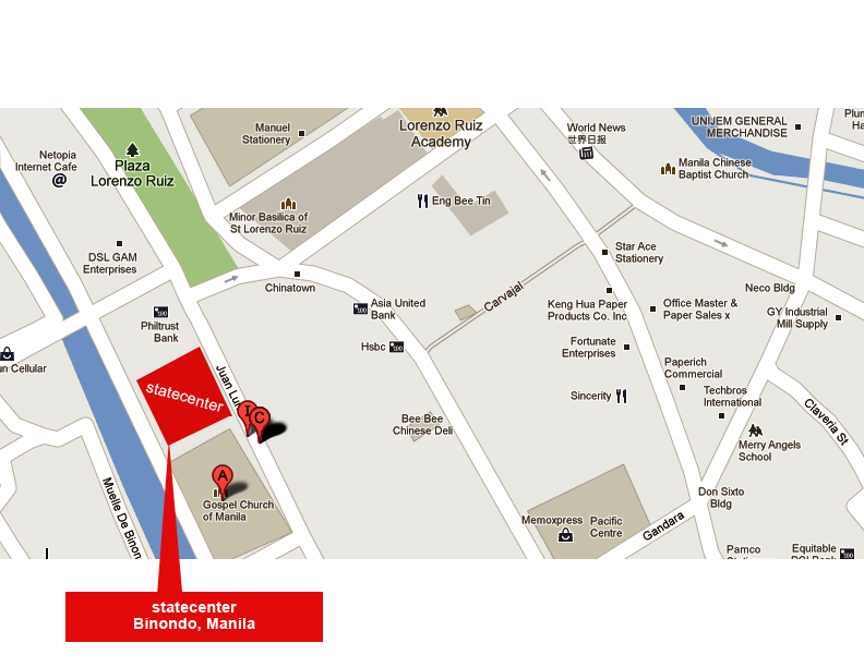 Binondo Warehouse Location Map