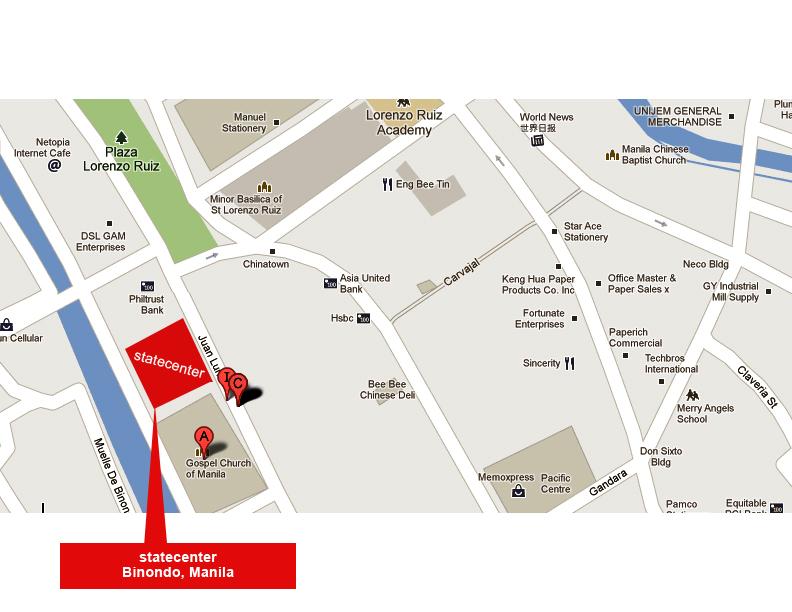 Binondo Warehouse Location Map
