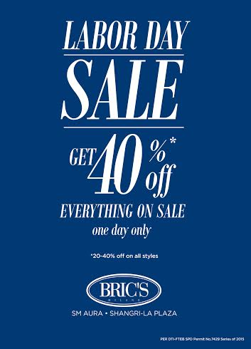 Bric's Labor Day Sale May 2015