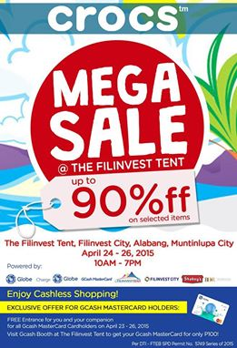 Crocs Megasale @ Filinvest Tent April 2015