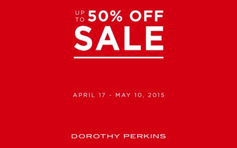 Dorothy Perkins Mid-Season Sale April - May 2015