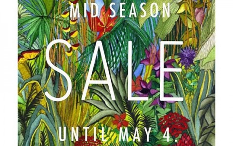Folded & Hung Mid-Season Sale April - May 2015