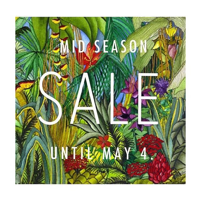 Folded & Hung Mid-Season Sale April - May 2015