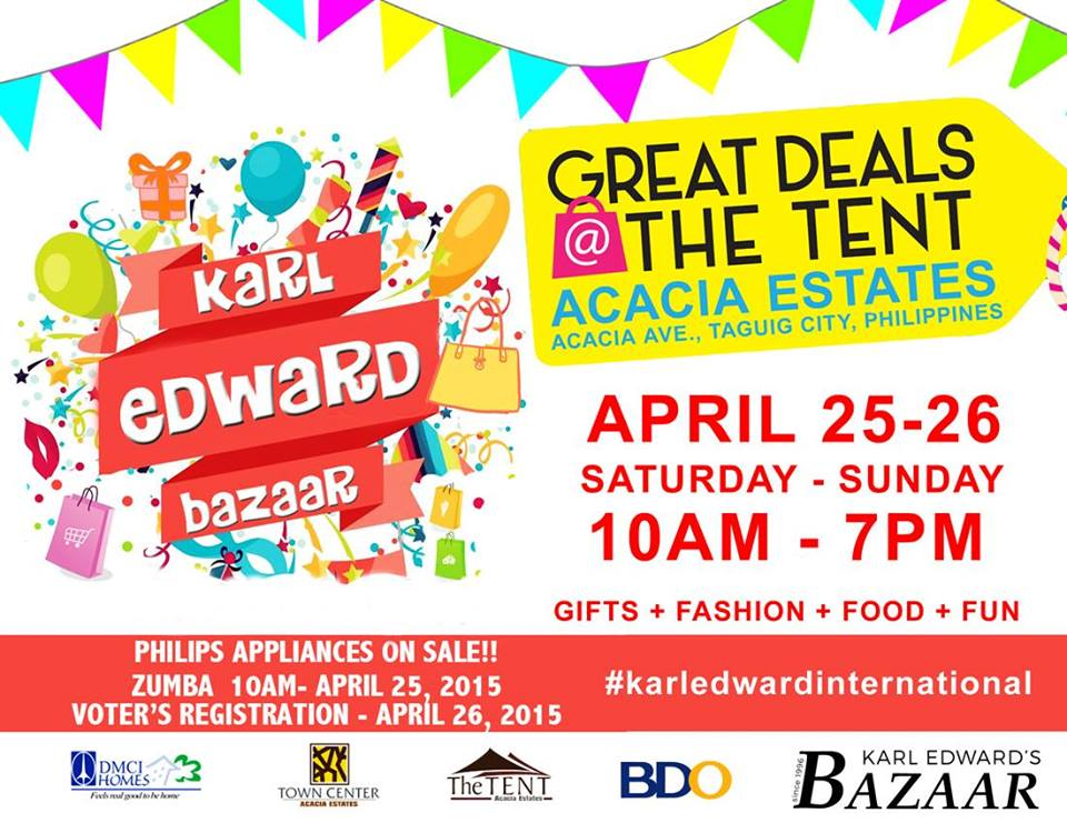 Great Deals Bazaar @ The Tent, Acacia Estates April 2015