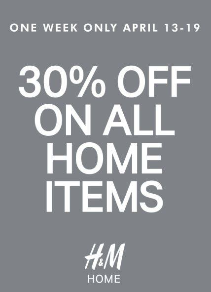 H&M Home Sale April 2015