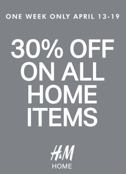 H&M Home Sale April 2015