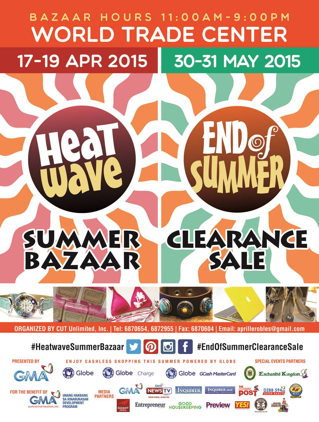 Heat Wave Summer Bazaar @ World Trade Center April & May 2015