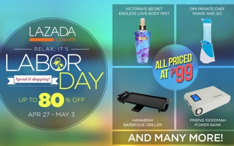Lazada Labor Day Flash Sale April - May 2015