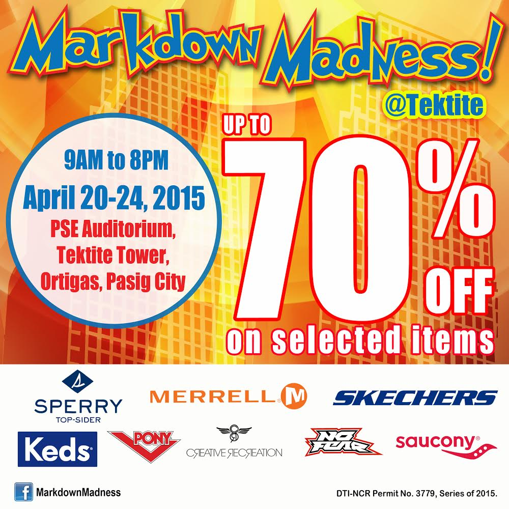 Markdown Madness Sale @ Tektite Tower April 2015
