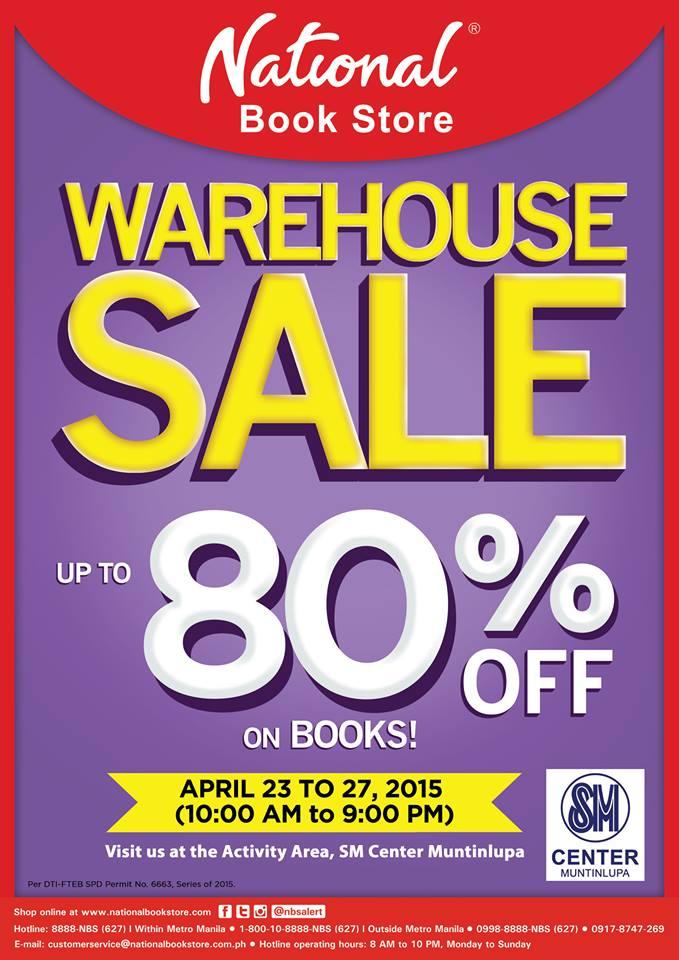 National Book Store Warehouse Sale @ SM Center Muntinlupa April 2015