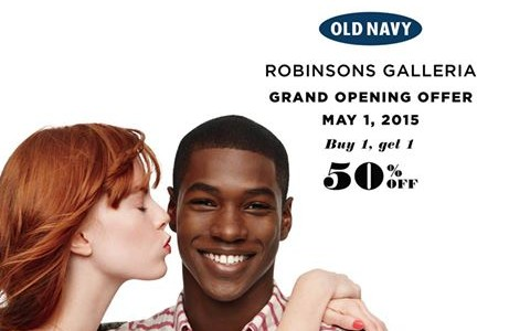 Old Navy Grand Opening Sale @ Robinsons Galleria May 2015